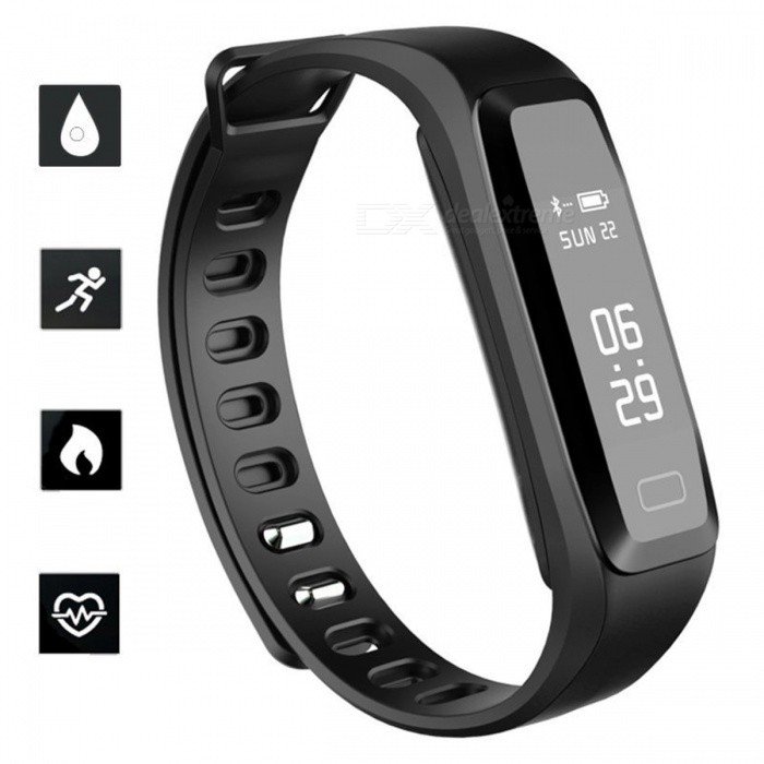 G15 Sports Smart Bracelet Watch Blood Pressure Heart Rate Monitoring IP67 Waterproof Remote Camera Function - BlackSmart Bracelets<br>ColorBlackQuantity1 setMaterialPlastic + SiliconeShade Of ColorBlackWater-proofIP67Bluetooth VersionBluetooth V4.0Touch Screen TypeAMOLEDCompatible OSAndroid 4.0 or higher, iOS 7.1 and higherBattery Capacity50 mAhBattery TypeLi-polymer batteryStandby Time20 dayPacking List1 x Smart Bracelet 1 x Charging clip 1 x User Manual<br>