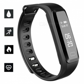 G15 Sports Smart Bracelet Watch Blood Pressure Heart Rate Monitoring IP67 Waterproof Remote Camera Function - Black