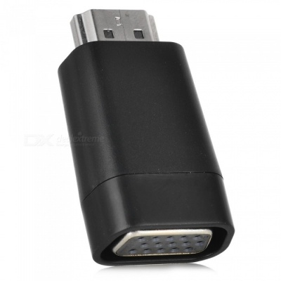 Cwxuan HDMI Male to VGA Female Connector Adapter - Black