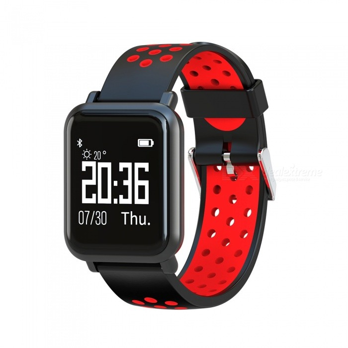 SN60 Sports Smart Watch Wrist Band IP68 Waterproof Blood Pressure Heart Rate Sleep Monitoring - Black + RedSmart Bracelets<br>ColorBlack + redQuantity1 setMaterialABSWater-proofIP68Bluetooth VersionBluetooth V4.0Touch Screen TypeYesCompatible OSAndroid 4.3 and above systems, iOS 8.0 and above systemsBattery Capacity150 mAhBattery TypeLi-polymer batteryStandby Time5-7 daysPacking List1 x Smart Bracelet1 x User Manual1 x Charging Cable<br>
