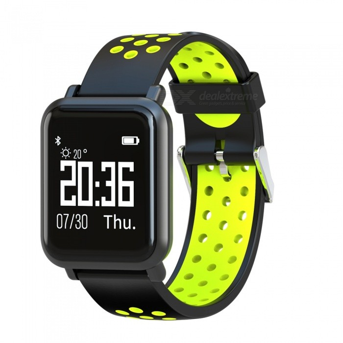 SN60 Sports Smart Watch Wrist Band IP68 Waterproof Blood Pressure Heart Rate Sleep Monitoring - Black + GreenSmart Bracelets<br>ColorBlack + greenQuantity1 setMaterialABSWater-proofIP68Bluetooth VersionBluetooth V4.0Touch Screen TypeYesCompatible OSAndroid 4.3 and above systems, iOS 8.0 and above systemsBattery Capacity150 mAhBattery TypeLi-polymer batteryStandby Time5-7 daysPacking List1 x Smart Bracelet1 x User Manual1 x Charging Cable<br>