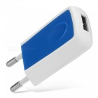 5v 1.2a universal home travel charger ac charging adapter - blue (eu plug)