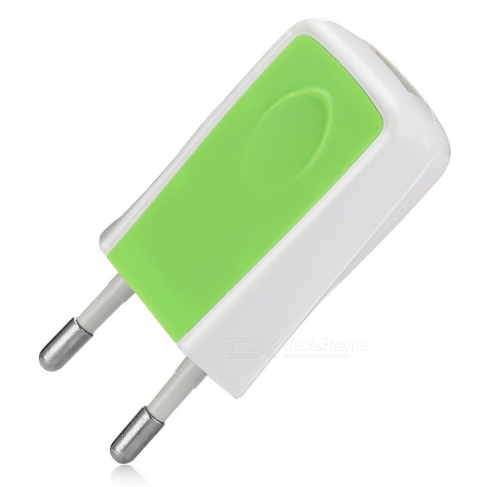 5V 1.2A Universal Home Travel Charger AC Charging Adapter - Green (EU Plug)AC Chargers<br>Form  ColorGreenPower AdapterUK PlugModel-MaterialABSQuantity1 pieceCompatible ModelsMobile Phone, Tablet, MP3/4, PSP etc.Input Voltage100-240 VOutput Current1.2 AOutput Power6 WOutput Voltage5 VLED IndicatorNoPacking List1 x Charger<br>