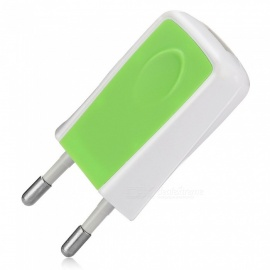 5V 1.2A Universal Home Travel Charger AC Charging Adapter - Green (EU Plug)
