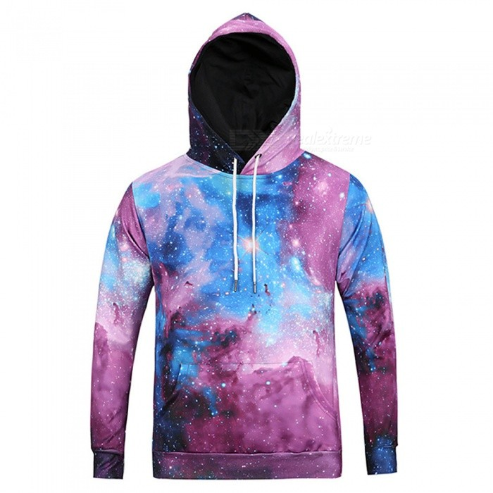 CTSmart L6023 Men's Cool High-Definition 3D Printing Starry Sky Style Hooded Sweater Hoody Hoodie - Multicolor (M)