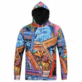 CTSmart L6028 Men's Spring Autumn 3D Printing Cool Hooded Shirt Hoody Hoodie - Multicolor (2XL)
