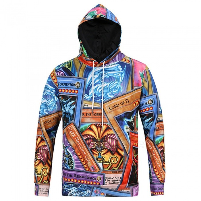 CTSmart L6028 Mens Spring Autumn 3D Printing Cool Hooded Shirt Hoody Hoodie - Multicolor (XL)Hoodies &amp; Sweatshirts<br>ColorMulticolorSizeXLModelL6028Quantity1 pieceShade Of ColorGoldMaterialPolyester + CottonStyleSportsShoulder Width47 cmChest Girth108 cmWaist Girth108 cmSleeve Length62 cmTotal Length69 cmSuitable for Height175 cmPacking List1 x Hoodie<br>