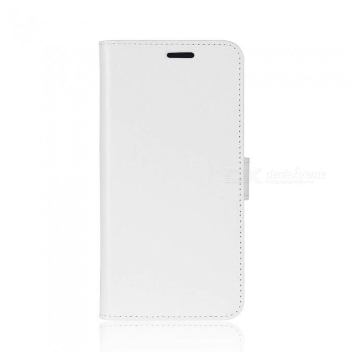 Protective PU Leather Case for IPHONE X - WhiteLeather Cases<br>Form  ColorWhiteModelN/AQuantity1 pieceMaterialPUCompatible ModelsiPhone XStyleFull Body CasesDesignSolid Color,With Stand,Lichee Pattern,Card SlotAuto Wake-up / SleepNoPacking List1 x Case<br>