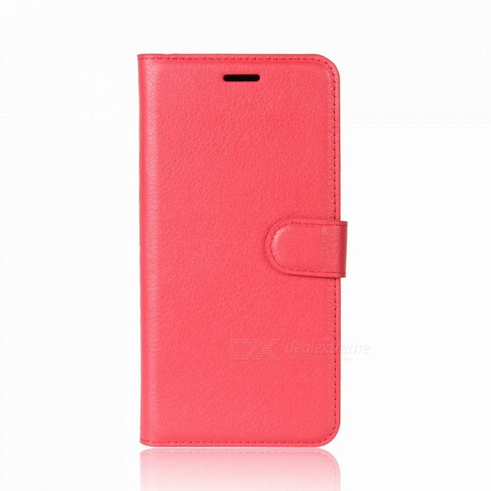 Lychee Pattern Protective PU Case for One Plus 5T - RedLeather Cases<br>ColorRedModelN/AMaterialPUQuantity1 pieceShade Of ColorRedCompatible ModelsOne Plus 5TFeaturesAnti-slip,Dust-proof,Shock-proof,Abrasion resistance,Holder functionPacking List1 x Case<br>