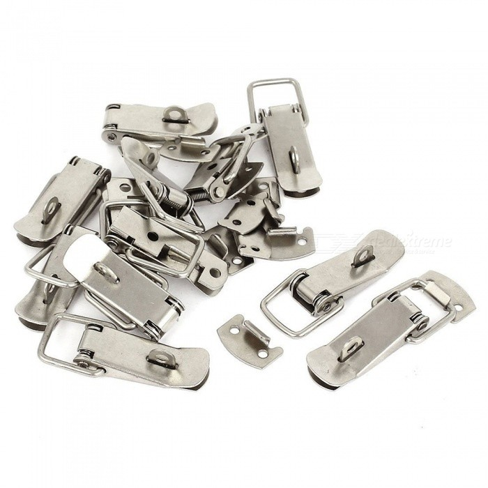 RXDZ 12Pcs Toolbox Chest Case Lockable Fastening Toggle Latch with Catch PlateDIY Parts &amp; Components<br>ColorSilver (12 PCS)Quantity12 piecesMaterialMetalEnglish Manual / SpecNoCertificationNOPacking List12 x Toggle Latch<br>