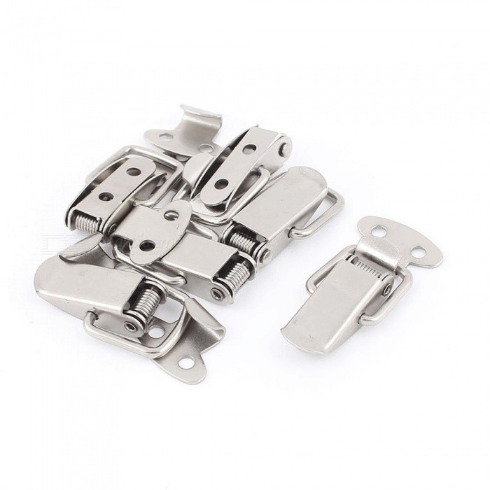 RXDZ 10Pcs Spring Loaded Metal Suitcase Chest Tool Boxes Locking Toggle Latch Hasp LockDIY Parts &amp; Components<br>ColorSilver (10 PCS)Quantity10 piecesMaterialMetalEnglish Manual / SpecNoCertificationNOPacking List10 x Toggle Latch<br>