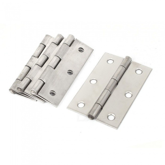 RXDZ 3 Long Cabinet Gate Closet Door Stainless Steel Butt Hinge - 10PCSDIY Parts &amp; Components<br>ColorSilver (10 PCS)Quantity10 piecesMaterialStainless steelEnglish Manual / SpecNoCertificationNOPacking List10 x Door Hinge<br>