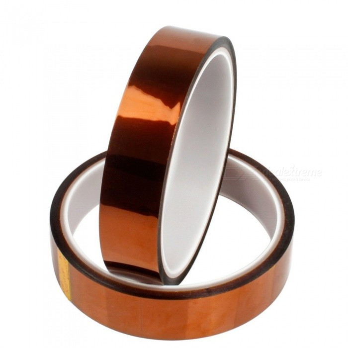 ZHAOYAO 20mm x 33m High Temperature Adhesive Tapes for 3D Printer (2 PCS)3D Printer Parts<br>Quantity2 PCSModelHigh temperature tapeQuantity1 setMaterialPolyimidePacking List2 x Tapes<br>