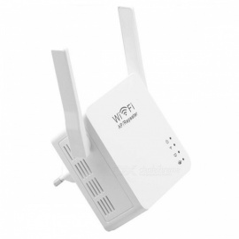 300Mbps Wireless Wi-Fi Repeater with USB Charging Port - White