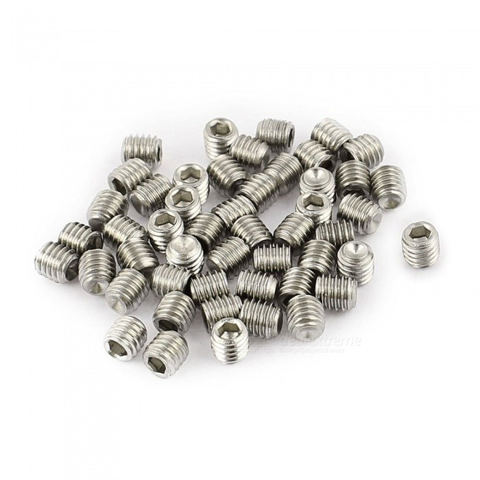 RXDZ 200Pcs M3 x 3mm Stainless Steel Hex Socket Set Grub Screws Headless Cup PointDIY Parts &amp; Components<br>ColorSilverQuantity200 pieceMaterial304 stainless steelEnglish Manual / SpecNoCertificationNOPacking List200(+/-2%)pcs x Screws<br>
