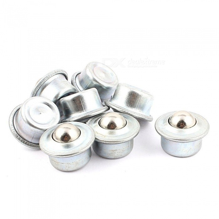 RXDZ 8pcs 15mm Dia Ball Metal Flange Mounting Eye Shape Roller Transfer Unit Bearing ConveyorDIY Parts &amp; Components<br>ColorSilverQuantity8 pieceMaterialMetalEnglish Manual / SpecNoCertificationNOPacking List8 x Ball Transfer Unit<br>
