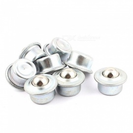 RXDZ 8pcs 15mm Dia Ball Metal Flange Mounting Eye Shape Roller Transfer Unit Bearing Conveyor