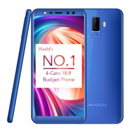 "LEAGOO M9 Android 7.0 Dual SIM Quad-Core 3G 5.5"" Full Screen Phone with 2GB RAM, 16GB ROM - Blue"