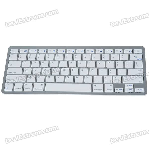 78-Key Ultra-Slim Portable 2.4G Wireless Keyboard with Receiver (2*AAA)