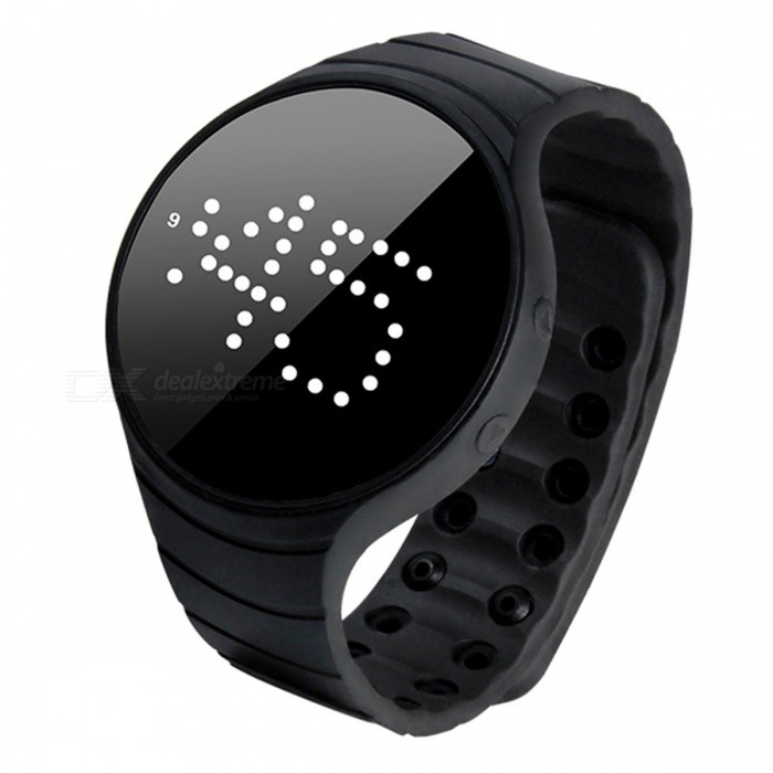 DMDG Smart Bracelet Fitness Tracker IP66 Waterproof Pedometer Wristband Vibration Alarm Clock - BlackSmart Bracelets<br>ColorBlackModelN/AQuantity1 pieceMaterialEnvironmental siliconeWater-proofIP66Bluetooth VersionNoTouch Screen TypeNoOperating SystemNoCompatible OSNOBattery Capacity11 mAhBattery TypeLi-ion batteryStandby Time30 daysPacking List1 x Smart Bracelet1 x User Manual<br>