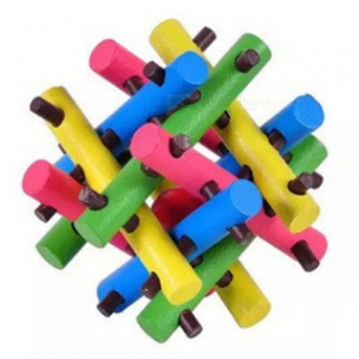 Portable Unique Wooden Unlock Educational Toy for KidsEducational Toys<br>ColorColorfulMaterialWoodenQuantity1 piecesSuitable Age 3-4 years,5-7 yearsPacking List1 x Toy<br>