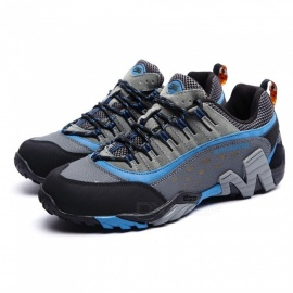CTSmart 8008 Outdoor Sports Men's Stylish Non-Slip Hiking Shoes - Gray + Blue (44)