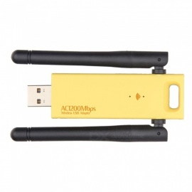 802.11AC 1200mbps dongle USB 3.0, scheda di rete wireless wi-fi con doppia antenna