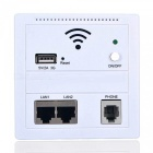 Portable embedded wall type wireless ap cable socket - white
