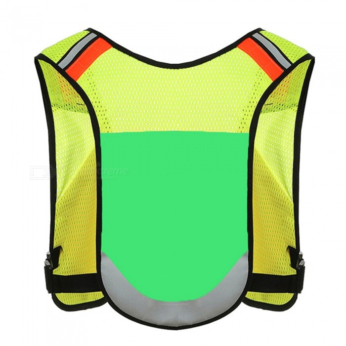 Ctsmart Multipurpose Outdoor Night Riding Running Vest Adjustable Reflective Vest - Green (One Size)ColorGreenModelCTQQuantity1 pieceMaterialPolyester meshPacking List1 x Vest<br>