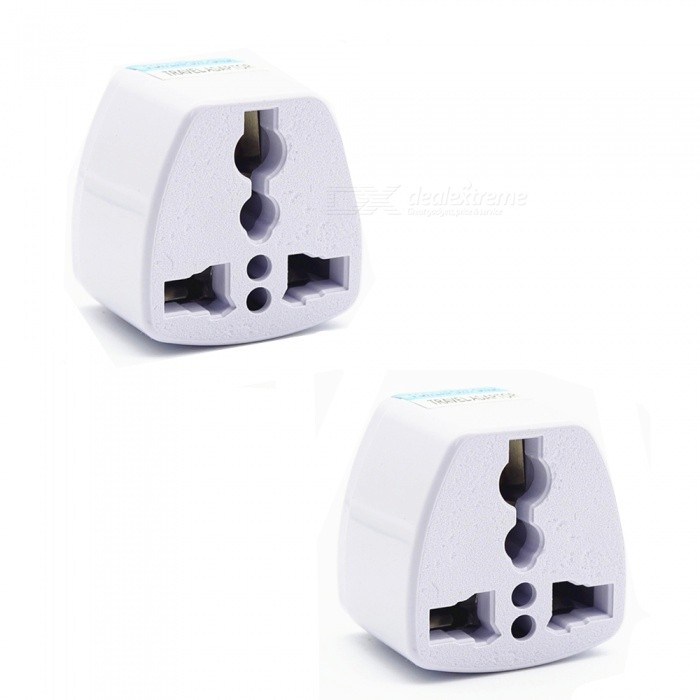 250V 10A Universal Multifunctional Power Adapter Plug - White / US Plug (2 PCS)Plugs &amp; Sockets<br>ModelUS PlugModelUS PlugQuantity1 setMaterialABSFireproof MaterialYesRate Voltage250VRated Current10 ARated Power800 WCompatible PlugOthers,Multi-functionGroundingNoOutlet7 setWith Switch ControlNoSurge Protection FunctionNoLightning Protection FunctionNoWith FuseNoPower AdapterUS PlugPacking List2 x Adapters<br>