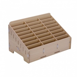 OJADE Multifunctional Wooden Storage Box Organizer