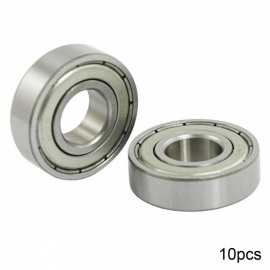 RXDZ 6001Z 10Pcs 12x28x8mm Metal Shields Deep Groove Radial Ball Bearings