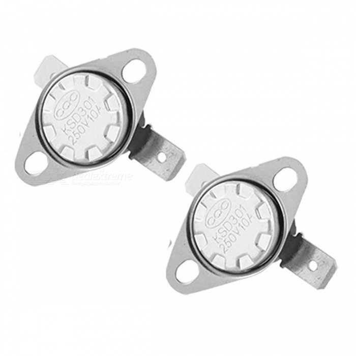 ZHAOYAO 2Pcs 95C KSD301 N.C. Right Angle Temperature Control Switch Thermostat
