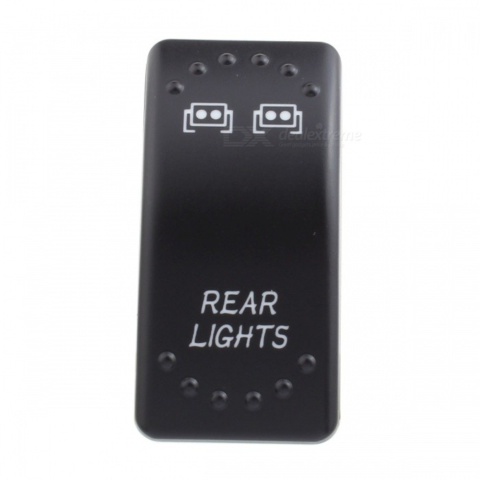 MZ Rear Light Pattern 5 Pin On/Off Rocker Toggle Switch for LED Work LightCar Light Accessories<br>ModelSwitch - Rear LightModelSwitch-Rear LightQuantity1 setMaterialPlasticPowerN/A WVoltage12-24 VApplicationToggle SwitchSuitable forUniversalPacking List1 x Switch3 x Cables<br>