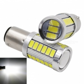 JRLED 1157 BY15D 5W blanc froid 5733 SMD 33-LED lampe de plaque d'immatriculation automobile, feu stop (DC12V / 2PCS)