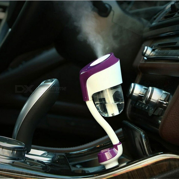 Portable Double USB Auto Car Humidifier Air Purifier Freshener Aqueous Aromatherapy Essential Oil Diffuser - PurpleAir Fresheners and Purifiers<br>ColorpurpleModelN/aQuantity1 setMaterialABS+PP+ electronic componentsShade Of ColorPurpleTypeOthers,AromatherapyPowered ByCar ChargerCapacity50MLOzone Concentration0 mg/hAnion Concentration0Power1.5W-3.5 WPower Supply12 VCurrent130 - 150 mAPacking List1 x Car Humidifier1 x English Manual<br>