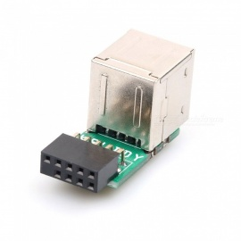 Dayspirit USB 2.0 9Pin Female 2-Port A Female Adapter Converter Motherboard PCB Board Card