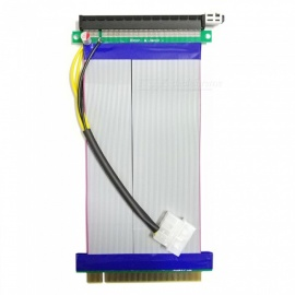 Dayspirit Powered PCI-E 16X to 16X Adapter Riser Extension Cable, Molex Power Connector