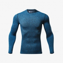 CTSmart L119 Summer New Tight-Fitting Fitness Long Sleeve Quick-Drying T-shirt - Light Blue (XL)