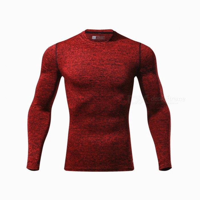CTSmart L119 Summer New Tight-Fitting Fitness Long Sleeve Quick-Drying T-shirt - Red (2XL)Hoodies &amp; Sweatshirts<br>ColorRedSize2XLModelL119Quantity1 pieceShade Of ColorRedMaterialPolyester + spandexStyleSportsShoulder Width43 cmChest Girth98 cmWaist Girth98 cmSleeve Length70.5 cmTotal Length69 cmSuitable for Height180 cmPacking List1 x Quick-drying Clothes T-shirt<br>