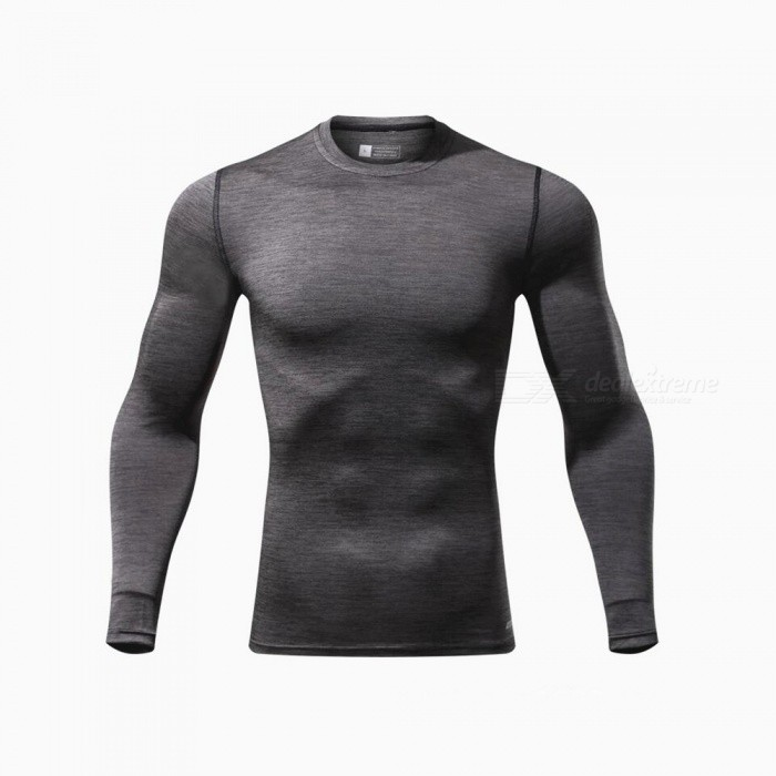 CTSmart L119 Summer New Tight-Fitting Fitness Long Sleeve Quick-Drying T-shirt - Dark Gray (L)Hoodies &amp; Sweatshirts<br>ColorDark graySizeLModelL119Quantity1 pieceShade Of ColorGrayMaterialPolyester + spandexStyleSportsShoulder Width43 cmChest Girth90 cmWaist Girth90 cmSleeve Length68.5 cmTotal Length67 cmSuitable for Height170 cmPacking List1 x Quick-drying Clothes T-shirt<br>