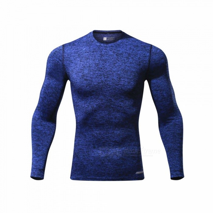 CTSmart L119 Summer New Tight-Fitting Fitness Long Sleeve Quick-Drying T-shirt - Dark Blue (XL)Hoodies &amp; Sweatshirts<br>ColorDark blueSizeXLModelL119Quantity1 pieceShade Of ColorBlueMaterialPolyester + spandexStyleSportsShoulder Width43 cmChest Girth94 cmWaist Girth94 cmSleeve Length69.5 cmTotal Length67 cmSuitable for Height175 cmPacking List1 x Quick-drying Clothes T-shirt<br>