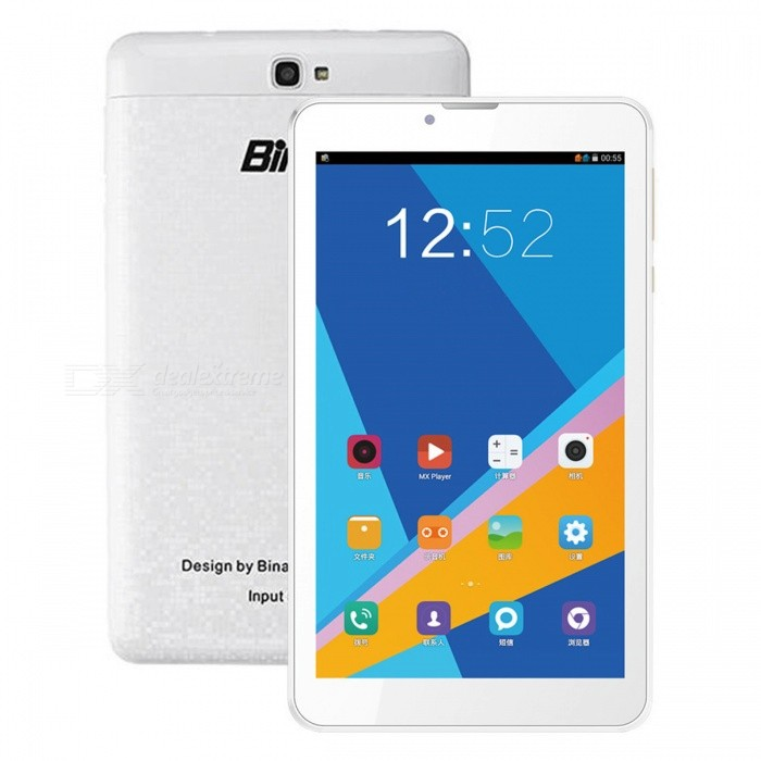 Binai X7 3G Quad-Core Android 6.0 Wi-Fi GPS 3G 7 Tablet PC with 1GB RAM, 8GB ROM - WhiteAndroid Tablets<br>ColorWhiteBrandOthersModelX7 3GQuantity1 setMaterialABSProcessor BrandOthers,MTK8321Processor ModelOthers,MTK8321Processor Speed1.2 GHzNumber of CoresQuad CoreBuilt-in Memory / RAM1GBCapacity / ROM8GBScreen Size7.0 inchesScreen Size7 inches &amp; UnderScreen TypeIPSResolution1024 x 600Touch Point5-point Capacitive Touch Screen3G TypeTD-SCDMA,WCDMAOperating SystemAndroid 6.0Interface1 x 3.5mmGoogle Play(Android Market)YesCamera type2 x CamerasBattery Capacity2800 mAhPacking List1 x Tablet PC1 x Charger 1 x USB cable 1 x OTG cable1 x User manual<br>