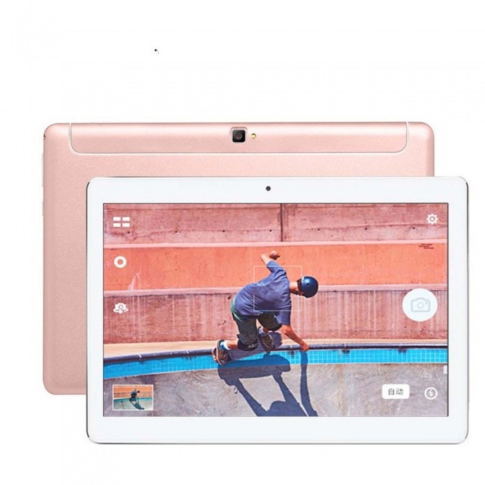 Binai Mini10 Octa-Core Android 7.0 10.1 Tablet PC with 2GB RAM, 32GB ROM - Rose GoldAndroid Tablets<br>ColorRose GoldBrandOthersModelMini10Quantity1 setMaterialMetalProcessor BrandOthers,MTK6753Processor ModelOthers,MTK6753Processor Speed1.5 GHzNumber of CoresOcta-CoreBuilt-in Memory / RAM2GBCapacity / ROM32GBScreen Size10.1 inchesScreen Size9 inches~10.1 inchesScreen TypeIPSResolution1920 x 1200Touch Point5-point Capacitive Touch Screen3G TypeTD-SCDMA,WCDMAOperating SystemAndroid 7.0GPSYesBuilt-in SpeakersYesInterface1 x 3.5mmGoogle Play(Android Market)YesCamera type2 x CamerasFront Camera Pixels2.0 MPBack Camera Pixels8.0 MPStorage InterfaceTFBattery Capacity5500 mAhPacking List1 x Binai Mini10 Octa-Core Tablet PC1 x USB Cable1 x OTG Cable1 x Charger1 x Adapter<br>