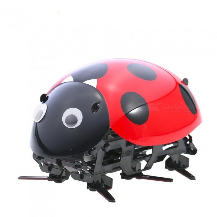 Wireless Remote Control Ladybug Shape DIY Simulate Beetle Electronic Pet Insect Toy for KidsFinger Toys<br>ColorBlack + MulticolorMaterialABSQuantity1 setSuitable Age 5-7 years,8-11 years,12-15 years,Grown upsPacking List1 x RC Ladybug Toy1 x Remote Control2 x Eyes Stickers1 x USB Cable1 x Instruction<br>