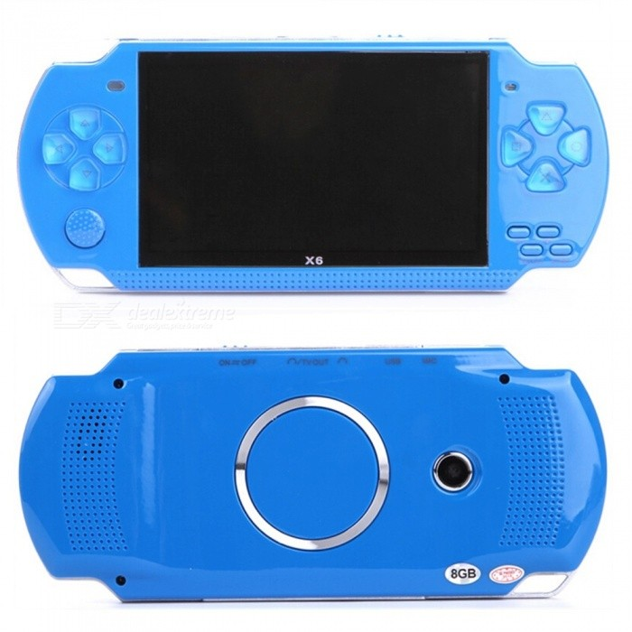 4.3 Inches 8GB Handheld Game Console Support 1000 Classic Games - BlueOther Consoles Accessories<br>ColorBlueQuantity1 pieceMaterialABSShade Of ColorBluePacking List1 x Handheld Game console1 x Lithium battery1 x Earphone1 x Charger1 x English Instruction<br>