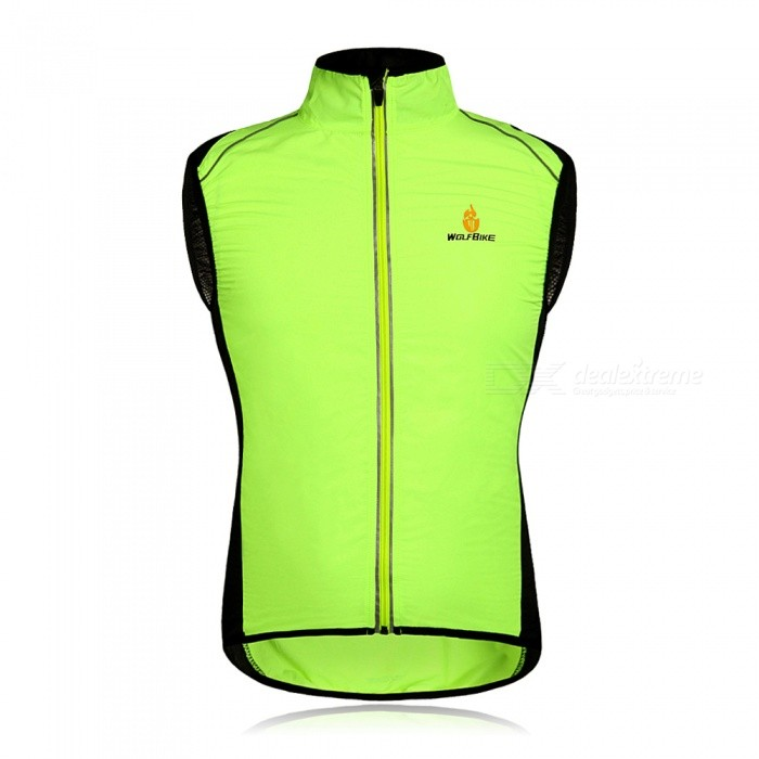 WOLFBIKE BC230 Reflective Breathable Windproof Cycling Vest, Sleeveless Jersey Jacket - Green (L)SizeLColorgreenModelBC230Quantity1 pieceMaterial100% POLYESTERTypeCycling VestNameCycling Vest JacketFeaturesBreathable/lightweightPacking List1 x Cycling vest<br>
