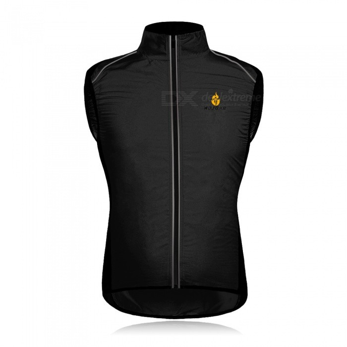 WOLFBIKE BC230 Reflective Breathable Windproof Cycling Vest, Sleeveless Jersey Jacket - Black (XL)SizeXLColorBlackModelBC230Quantity1 pieceMaterial100% POLYESTERTypeCycling VestNameCycling Vest JacketFeaturesBreathable/lightweightPacking List1 x Cycling vest<br>
