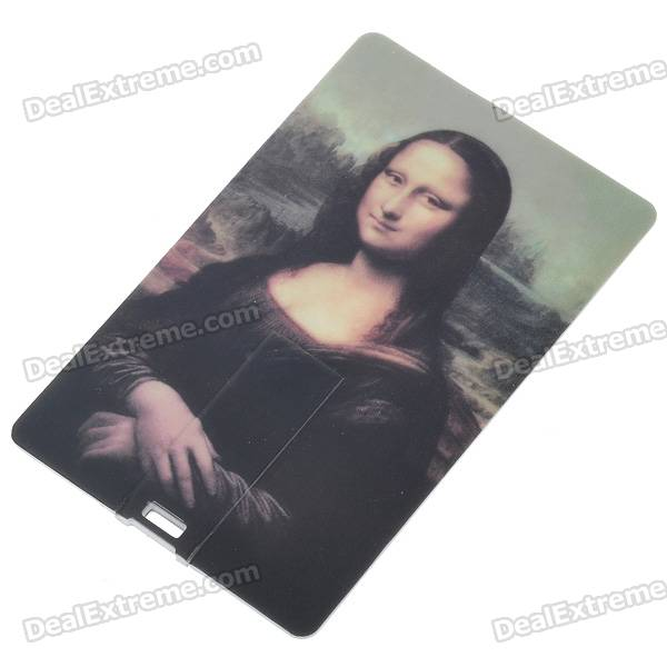 Compact Name Card-Stil USB 2.0 Flash / Jump-Laufwerk - Mona Lisa (2GB)