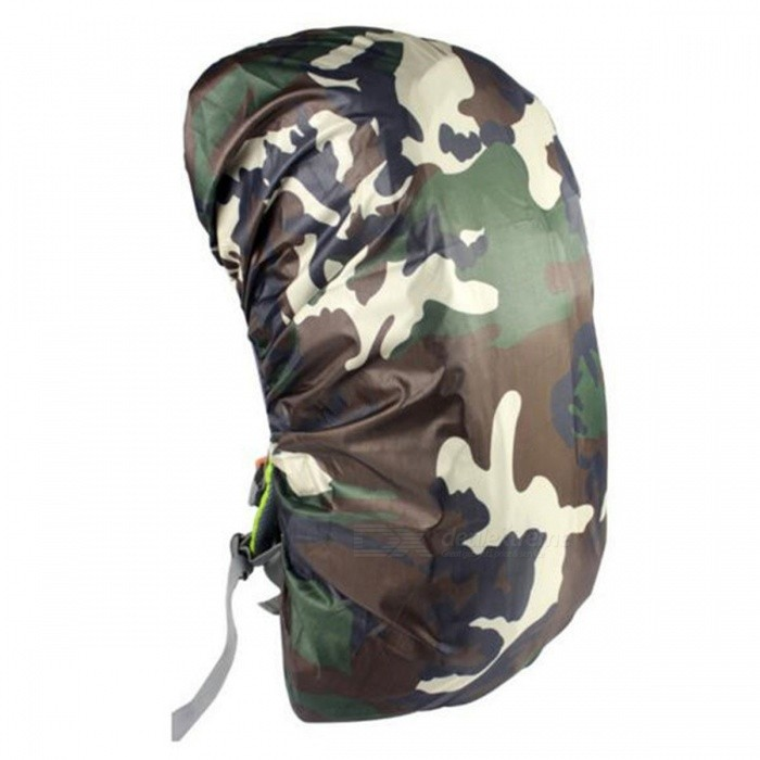 CTSmart 45L Outdoor Mountaineering Camouflage Wearable Backpack Protection Cover - Jungle CamouflageColorJungle camouflageQuantity1 pieceMaterialOxford clothBest UseTravelPacking List1 x Rain Cover<br>